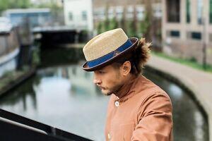 Oliver Men's Women's Summer Retro Wheat Straw Porkpie Hat