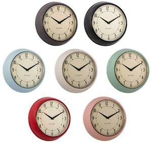 Plint Wall Clock - Retro Timepiece, Multiple Colours, Cooking Timer Metal Design
