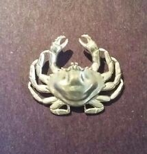 Fine Custom Designed Handcrafted Small DUNGENESS CRAB Pendant Sterling Silver