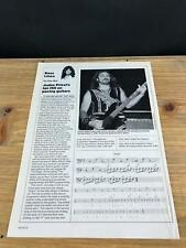 1989 Vintage 1Pg Print Article Bass Lines Guitar Ian Hill Of Judas Priest Tyrant