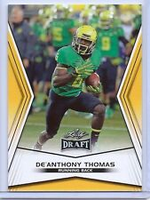 "DE'ANTHONY THOMAS ""35 CARD LOT"" 2014 LEAF DRAFT ""GOLD"" ROOKIE CARD! CLOSEOUT!!"