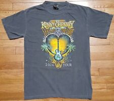 Kenny Chesney Spread The Love 2016 Tour Concert Tee T-Shirt Gray Faded Look - M