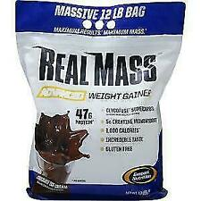 Gaspari Nutrition REAL MASS 12Lb Weight Gainer Protein Powder Like Combat XL