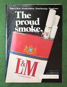 vintage 1980s magazine ad L&M Cigarettes smoke smoking smoker The Proud Smoke