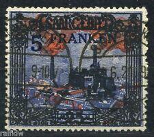 Saargebiet 5Fr./25Mark Ansichten 1921 Plattenfehler geprüft (S6593)