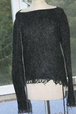 SARAH PACINI  Superbe  pull tunique avec laine tons de gris T U TRES ORIGINAL+++