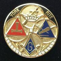 Freemason Masonic York Rite Lapel Pin