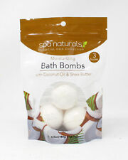 Spa Naturals Moisturizing Bath Bombs With Coconut Oil & Shea Butter 3x5.3 Ounce