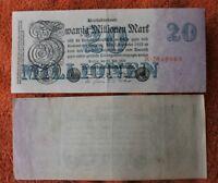 31032 Reich Allemand Billet de Banque 20 Millions Mark 25. 7. 1923 Ro 96