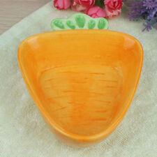 assiettes en céramique de forme de carotte assiettes à dîner bol assiette