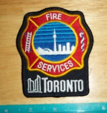 TORONTO FIRE SERVICES PATCH,emergency response,department,Ontario,Canada,firemen