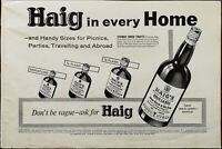 Haig Gold Label Scotch Whiskey, Haig In Every Home Vintage Advertisement 1964
