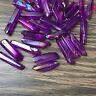 titanium rainbow aura lemurian quartz crystal wand point 50g 8-12pcs H204