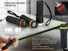 1 Watt Super Bright Mini LED Flashlight Torch Adjustable Focus Zoom Light Lamp