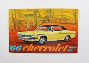 1966 Chevrolet Owner's Guide / Manual - Original - 2nd Printing - Antique Auto