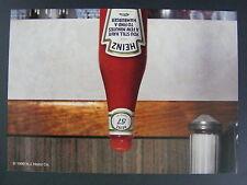 Heinz Ketchup Bottle Upside Down Color Promo Advertising Postcard 1999