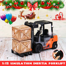 1:12 Scale Simulation Forklift Truck Model Car Construction Vehicle Collection