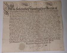 Schnörkel-Geburtsbrief Cannewitz (Grimma) 1782 für Johann Christian Büchner