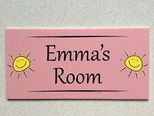 Sunshine Individual Door Name Plaque Girls Bedroom Room Sign Kids Children (P)