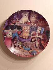 Bradford Exchange Frisky Business-Ready to place on the wall-Adorable Cat Plate