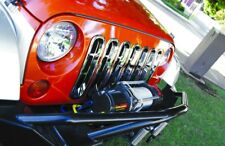 Rampage 7511 Chrome Snap-In Grille Inserts 1997-2006 Jeep TJ Wrangler