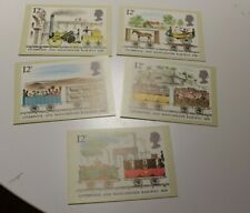 MINT 1980 GB LIVERPOOL AND MANCHESTER RAILWAY PHQ MAXI CARD SET OF 5