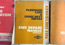 1977 CHEVROLET UNIT REPAIR MANUAL  PASSENGERS CARS + LIGHT DUTY TRUCKS