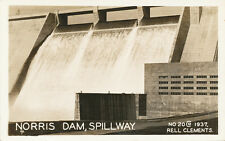TN * Norris Dam Spillway  1937  Rell Clements RPPC