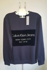 Mens Calvin Klein Hayto 2 Sweatshirt Jumper Grey Navy XL