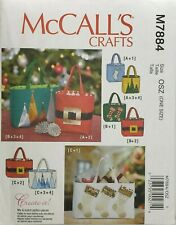 McCall's M7884 Christmas Holiday Gift Bags in 3 Sizes Uncut Craft Sewing Pattern