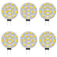 6x G4 LED Light Bulbs lamps 2.2W 3000K 300Lm Warm White AC/DC12V 24V 120° Beam