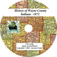 1872 History & Genealogy of WAYNE County Indiana IN
