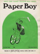 Paper Boy Piano Solo, for beginners 1968 vintage sheet music