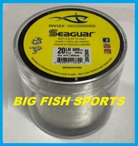 SEAGUAR INVIZX 100% Fluorocarbon Line 20lb/600yd 20VZ600 FREE USA SHIP! 20VZ600