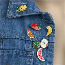 NEW 7pcs Cartoon Collar Pin Badge Corsage Fruit Apple Enamel Brooch set Jewelry