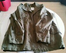 KL H.V. PUIJENBROEK Military Olive Green Field Heavy Jacket W/ Wool Liner. NOS