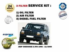 FOR JEEP CHEROKEE 2.5DT 1996-12/2000 SERVICE KIT OIL AIR FUEL ( 3 ) FILTER SET