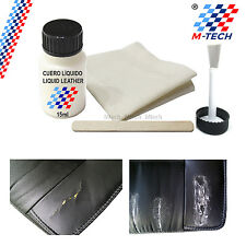LEATHER LIQUID 15ml + BRUSH + FABRIC REPAIR leather CAN BE SANDED BMW E34 E39