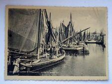 CHIOGGIA canal S. Domenico bragozzi Venezia vecchia cartolina
