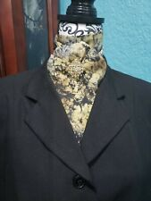 Stock Tie Brown & Black Spatter Contour (Pin is not included)