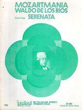 MOZARTMANIA Waldo De Los Rios SHEET MUSIC BOOK Mozart Rearranged HITS EC