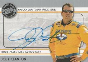2008 Press Pass Autographs Joey Clanton