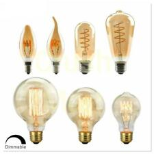 LED Spiral Dimmable Bulb Filament Edison Light 220V 4W 40W Lamp Retro Vintage