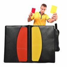 Red Yellow Card Pencil Sports Notebook Soccer Referee Wallet Sport Match Sheet