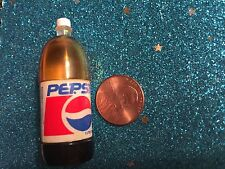 BARBIE DOLL HOUSE DIORAMA TYCO  KITCHEN LITTLES  2 LITER PEPSI SODA BOTTLE