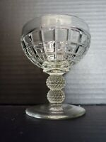 Antique CRYSTAL HEISEY VICTORIAN Champagne Sherbet (2 Ball)