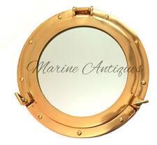 "12"" Brass Porthole Port Window Ship Boat Port Hole Round with GLASS Wall Decor"