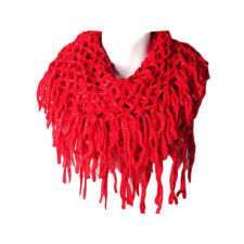 RED FISHNET INFINITY DOUBLE LOOP COLLAR SCARF