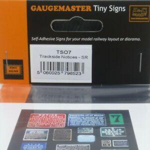 Gaugemaster Tiny Signs O Gauge Trackside Notices SR (TSO7) - Brand New