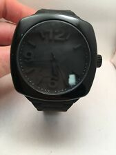New NIXON A265-000 Dial BLACK Unisex Plastic Analog BLACK Watch Silicone